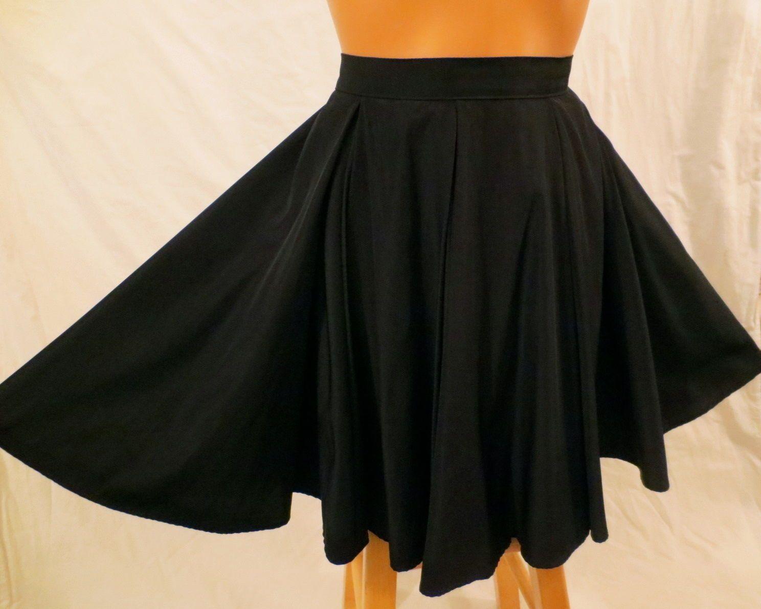 AMERICAN APPAREL short gore skirt - $19.99 at JOHNNY BOMBSHELL #fullskirt #skaterskirt #swingskirt #circleskirt #black #AmericanApparel