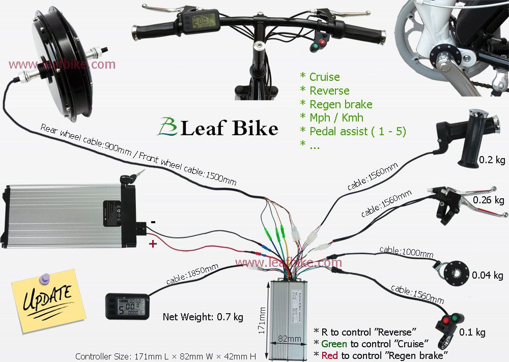 1000w new hub motor electric bike conversion kit wire