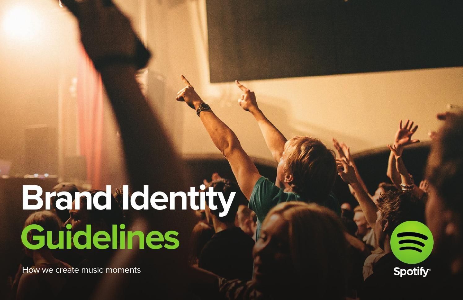 Spotify Brand Identity Guidelines Brand Books Brand