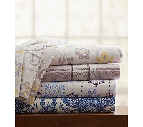 Pointehaven UltraSoft Printed Flannel Sheet Set Jensen King Sheet Set