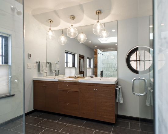 Awesome Master Bathroom With Wooden Entrance: Exquisite Edgehill Master  Bath Interior Frameless Mirror Wooden Vanity
