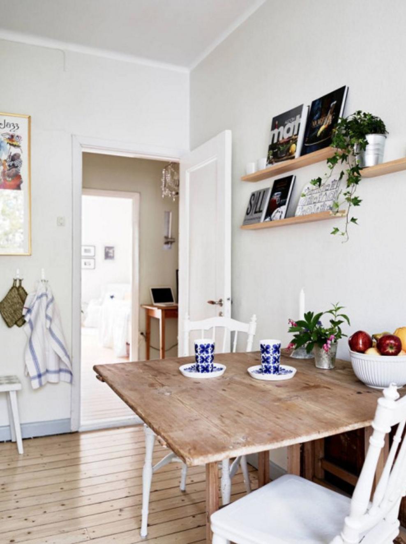 Pratique et rustique cette table de salle manger en - Table de salle a manger en bois ...