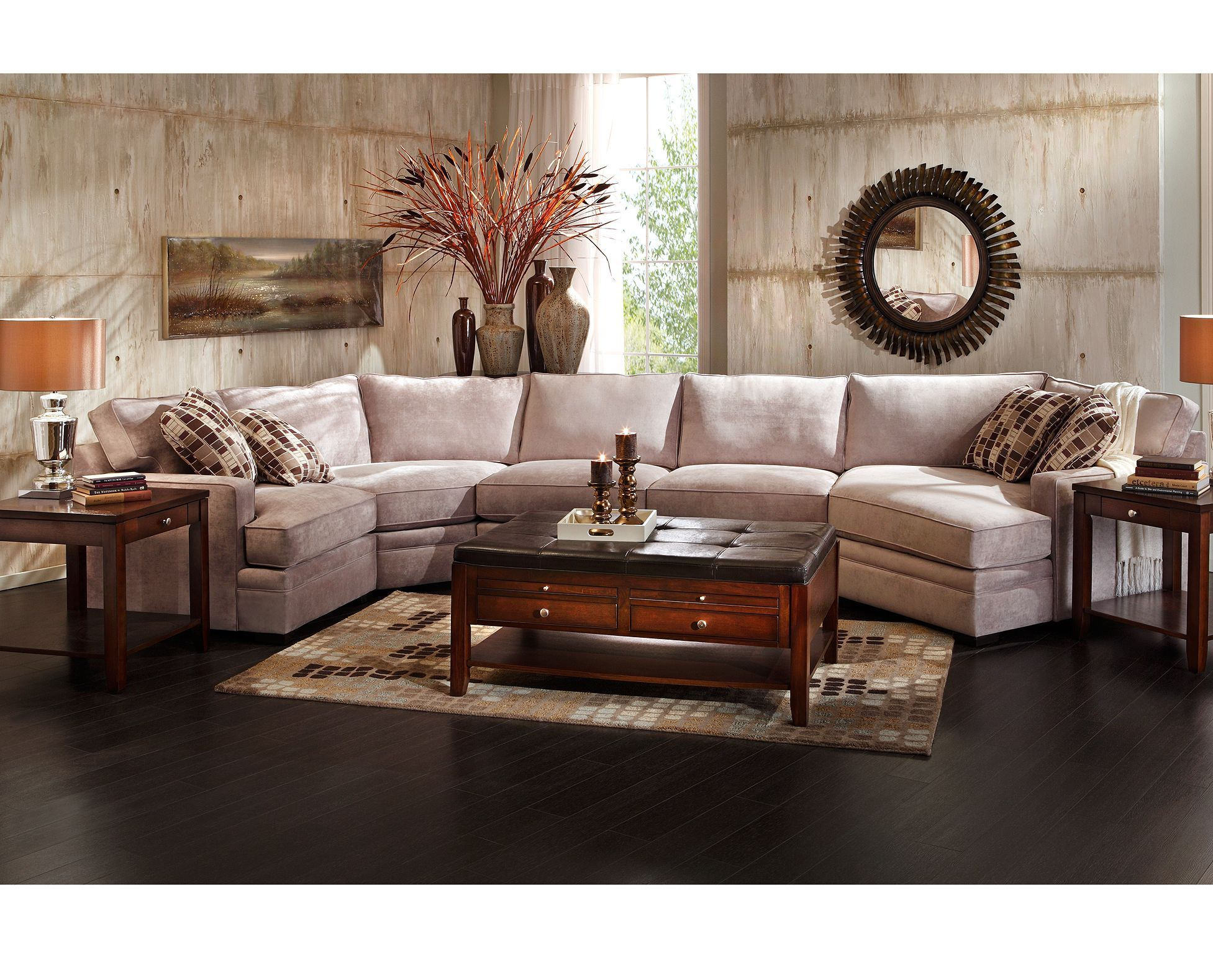 Glenwood 4 Pc Sectional Sofa Mart 1