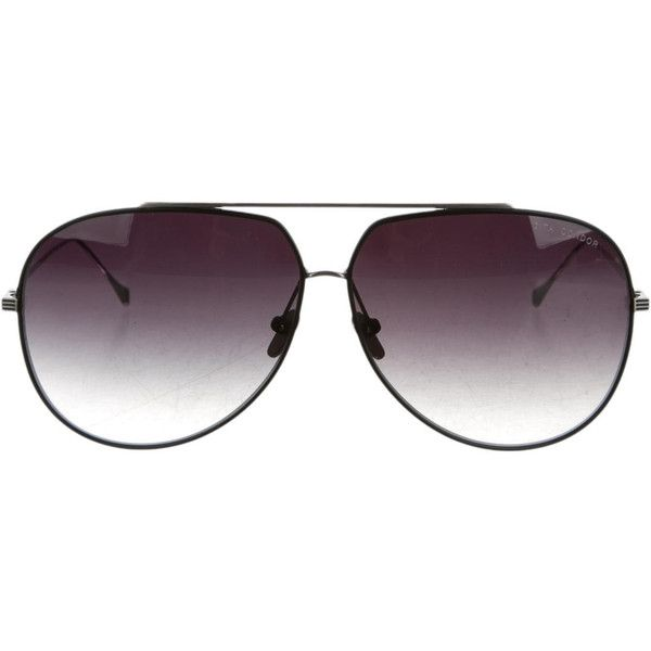 Pre-owned Dita Aviator Sunglasses ($125) ❤ liked on Polyvore featuring accessories, eyewear, sunglasses, silver, dita eyewear, dita glasses, aviator sunglasses, dita sunglasses and aviator glasses