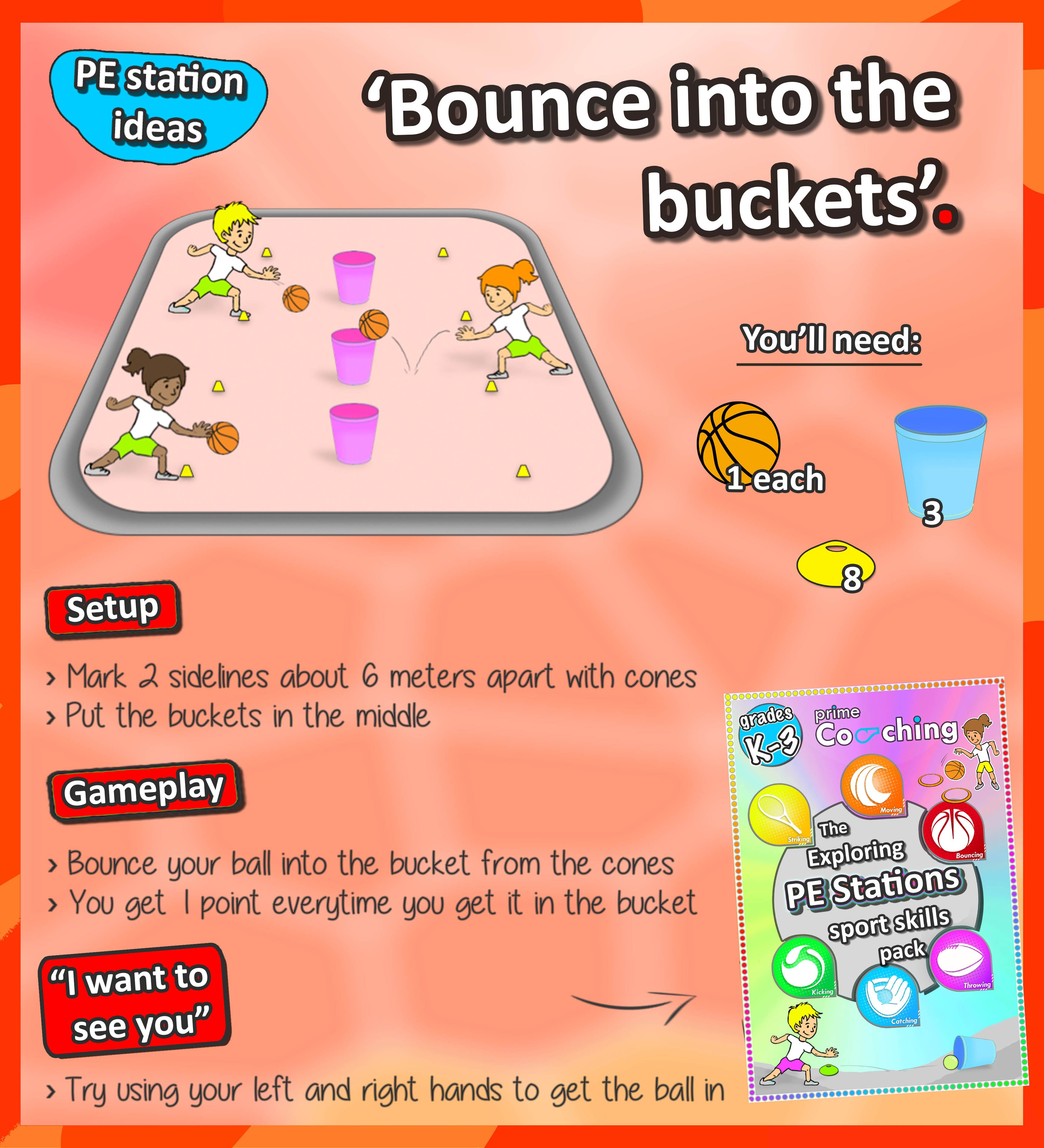 Exploring Pe Stations 6 Awesome Station Activities For You To Basic Skills In Relay Race Basketball Bouncing Get Your Kids Practicing Their Ball Handling And Accuracy With This Simple Check Out More Sport Here