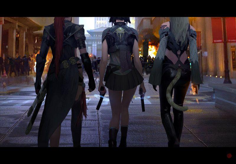 Artstation Urban Legends Tale Of The Cyber King Brandon Liao Urban Legends Concept Art World Concept Art