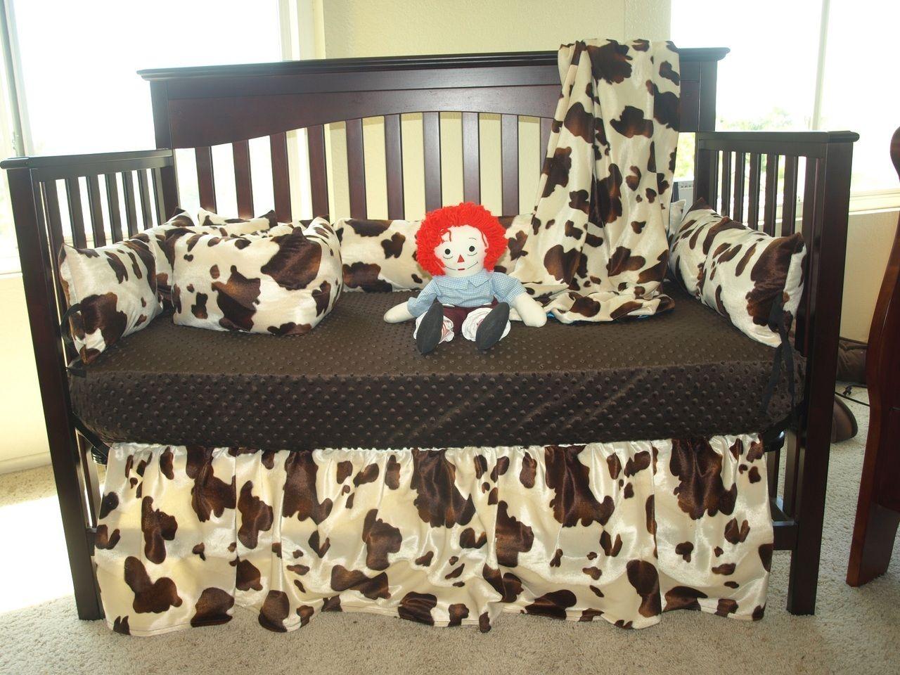 Sew Custom Cow Print Baby Bedding Set 129 00 Http Www