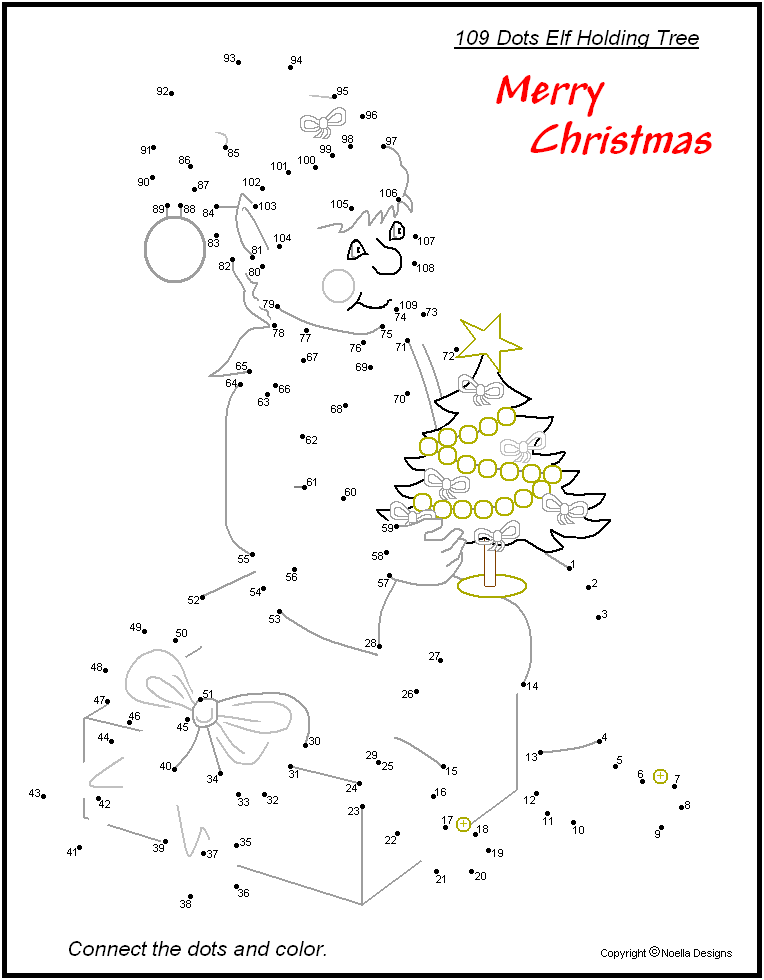 Free Printable Christmas Connect The Dots For Children Free Christmas Printables Christmas Worksheets Christmas Printables