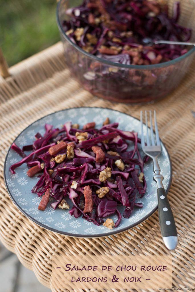 Recette Chou Rouge Lardons Pommes De Terre : recette, rouge, lardons, pommes, terre, Salade, Rouge,, Lardons, Recette