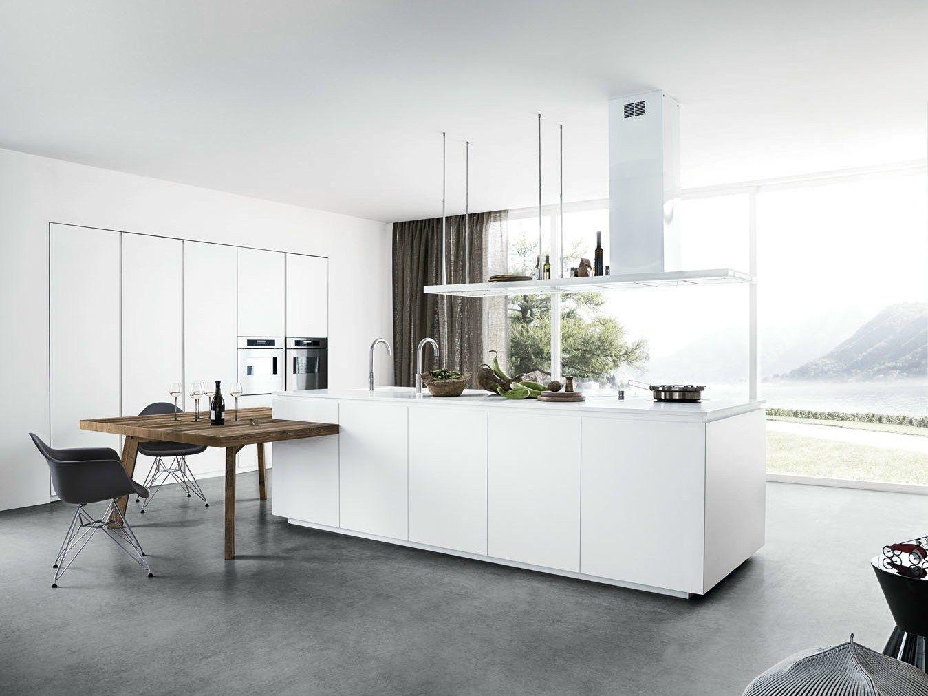 Lackierte Küche mit Kücheninsel ohne Griffe CLOE 01 by