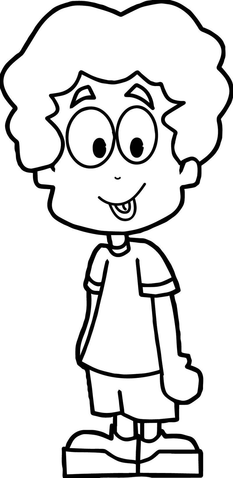 Cartoon Boy Coloring Page Boy Coloring Coloring Pages For Boys Cartoon Coloring Pages