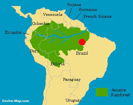 Amazon River In South America Map.Amazon Rainforest Life In And Around The Amazonas River