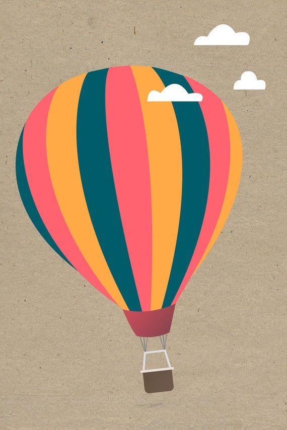 Hot Air Balloon Art Prints Wood & Metal Signs Canvas Tote | Etsy