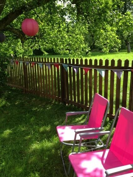 Bunting and bright deck chairs #behindthescenes #tvshoot | On ...