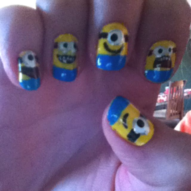 Despicable Me minions on my nails :)