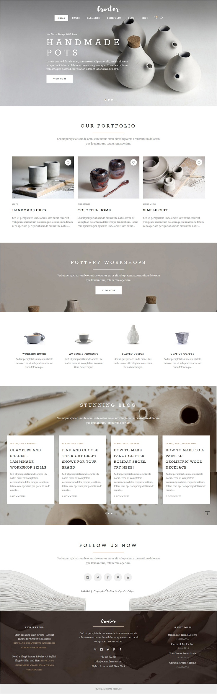 Creator Is A Wonderful Responsive Wordpress Theme For Handmade
