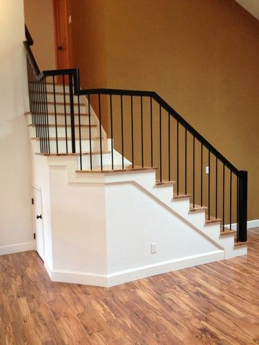 Rustic Hickory Stairs   Contemporary   Staircase   Portland   Portland  Stair Company