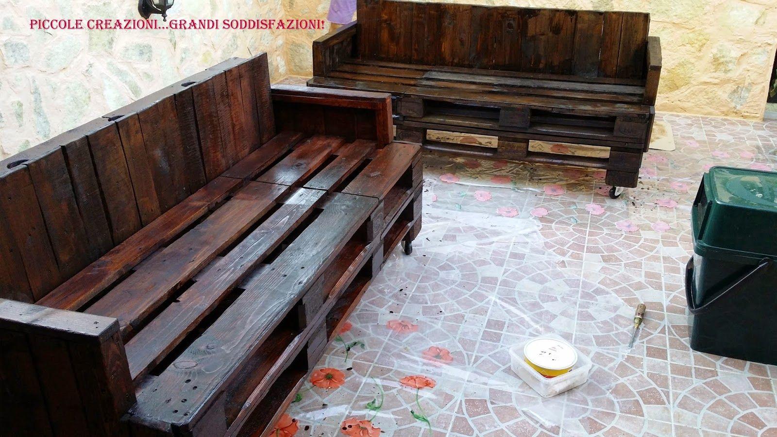 Tavolo giardino fai da te con panche da giardino con pedane epal