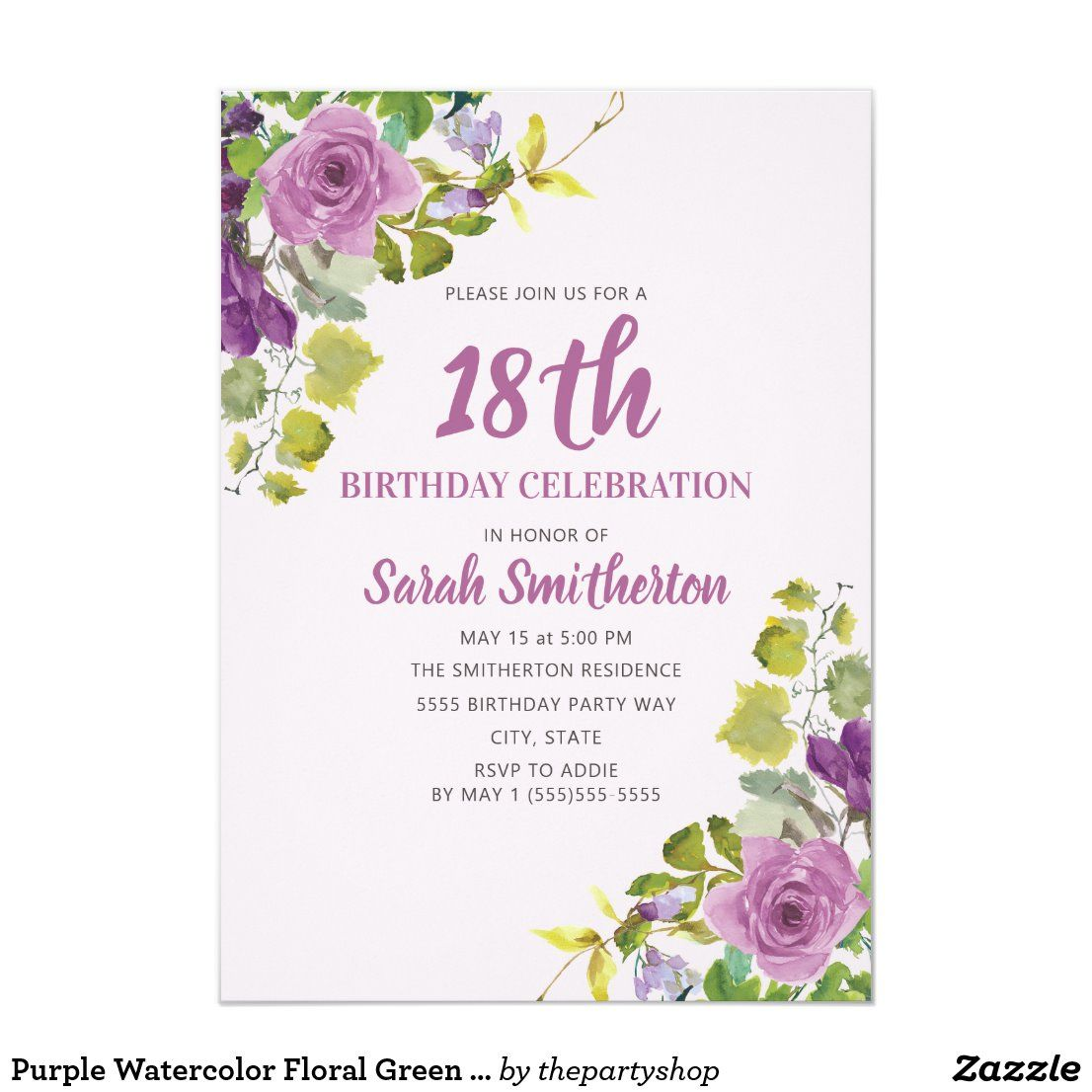40 18th birthday party invitations