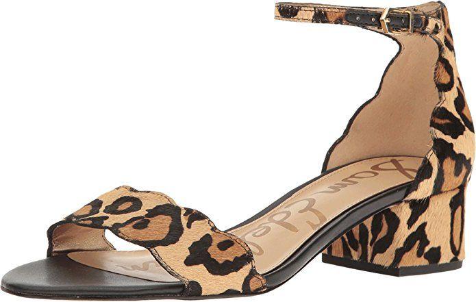 57c49b666 Sam Edelman Women s Inara New Nude Leopard Leopard Brahma Hair Sandal