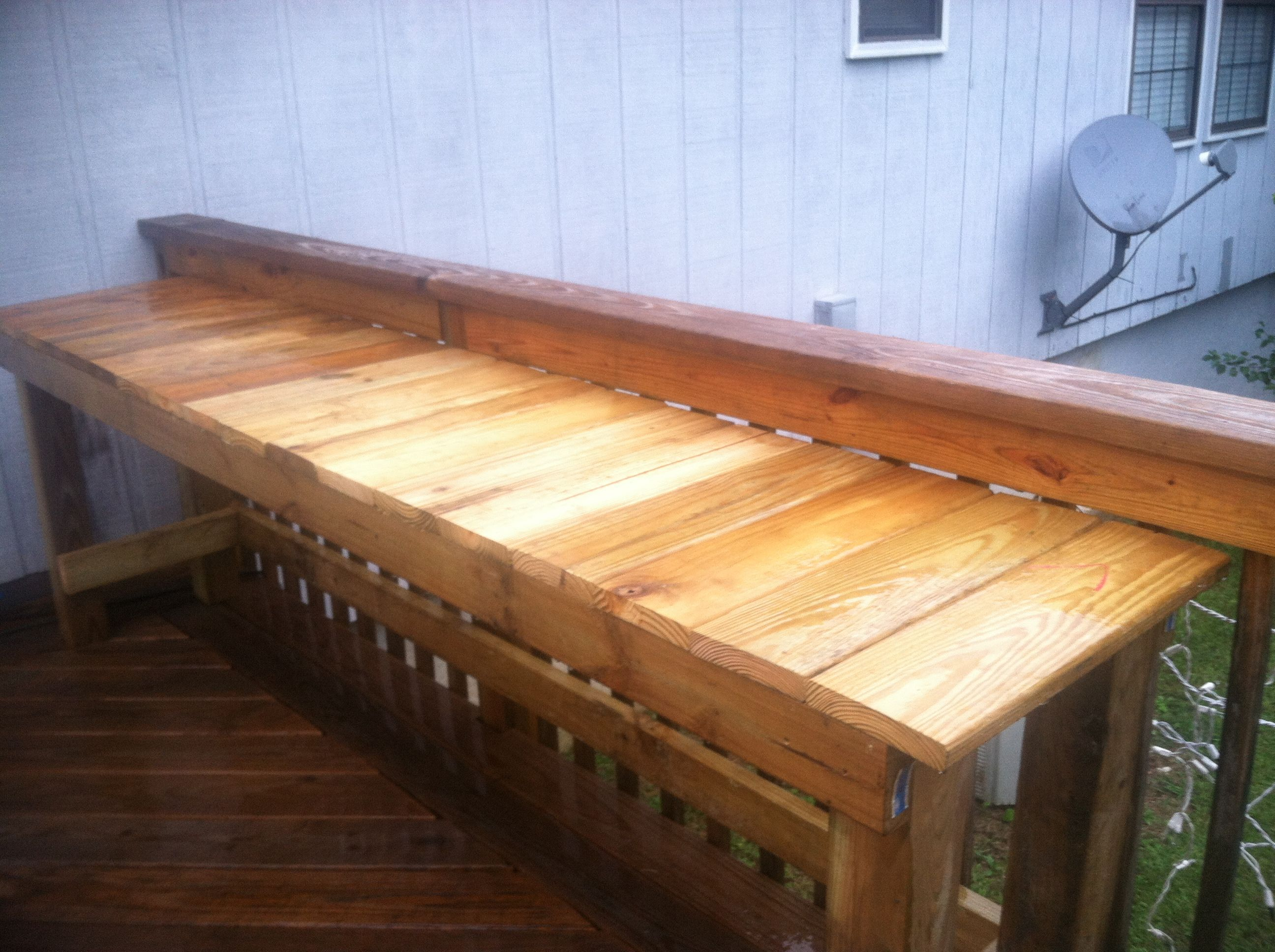 Serving Table Made From Left Over Decking Material My