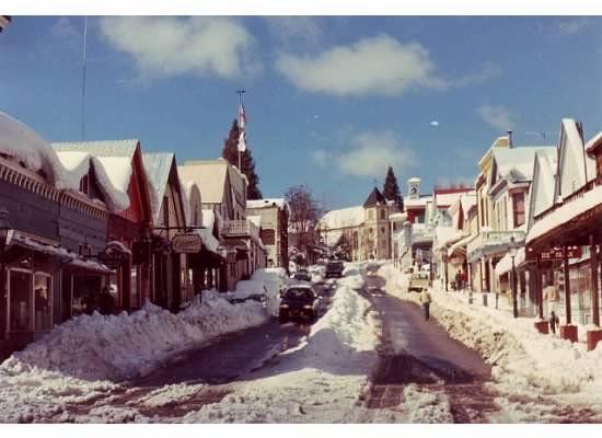 Snowy Nevada City Nevada City California Nevada City Beautiful Destinations