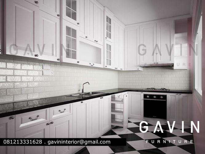 Kitchen Set Minimalis Klasik Dengan Finishing Duco Project Gavin
