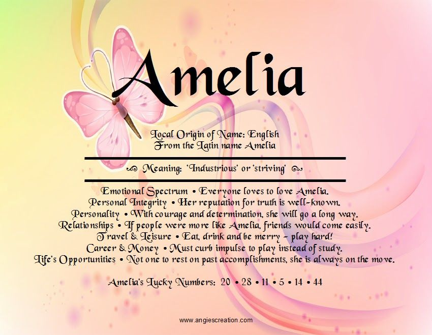 what does the name amelia
