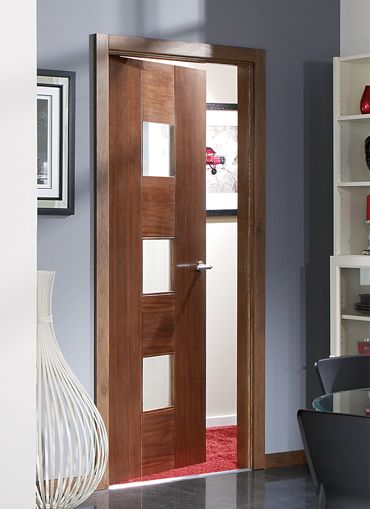 Catalonia Walnut Pre Glazed Internal Door Best Pinterest