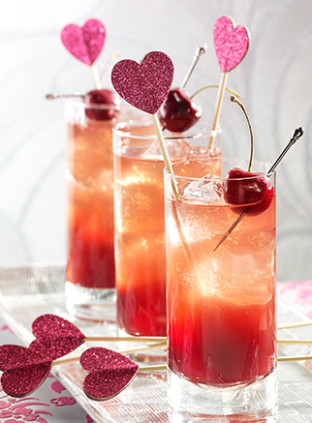 Glitter Heart Tails For 2017 Valentine S Day Wine Tail Drinks Www Foodideasrecipes