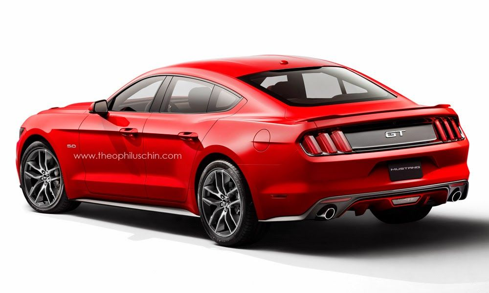 4 Door Ford Mustang Sedan Rendered Ford Mustang Price 2015 Ford