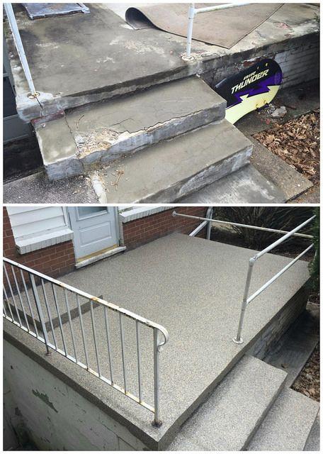 Concrete repair resurfacing bedford new hampshire new - Resurfacing exterior concrete stairs ...