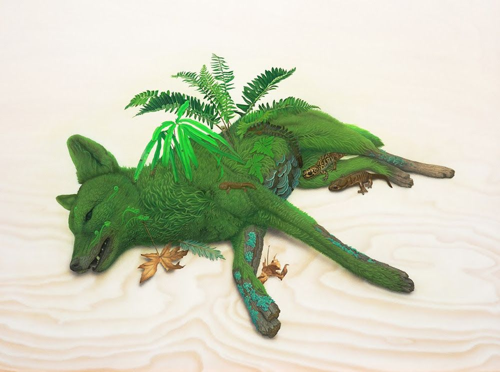 des peintures surréalistes de la vie sauvage par Tiffany Bozic Dessein de dessin | Wildlife ...