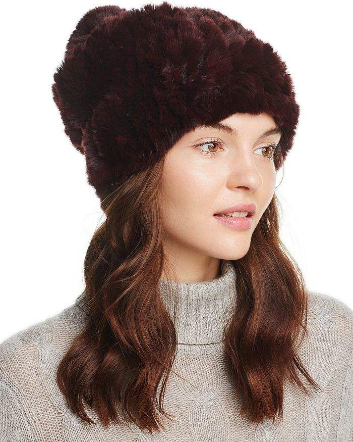 4249bf96d Surell Rabbit Fur Slouch Hat in 2019 | Products | Beanie hats ...