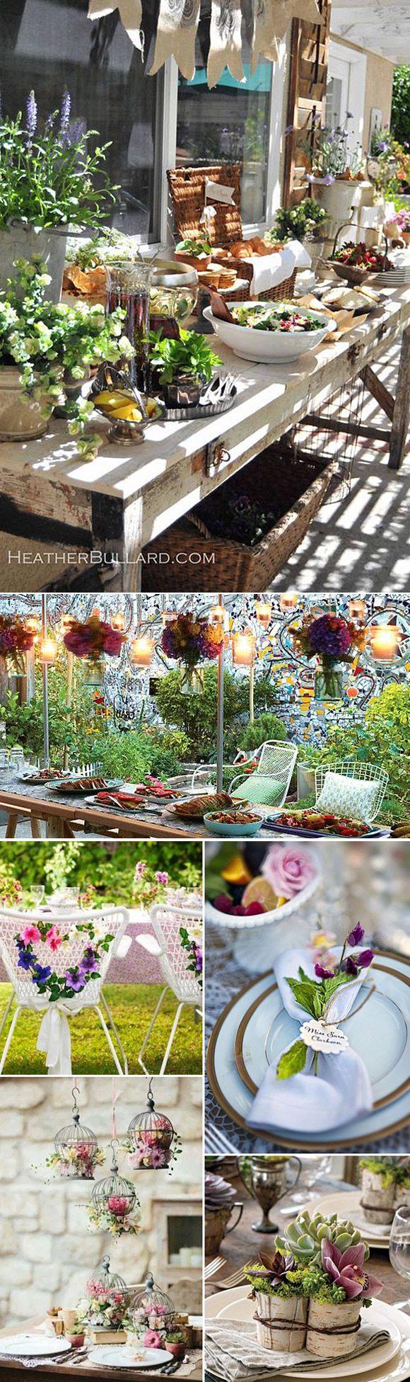 Fiestas en el jardin ideas originales y sencillas l - Ideas originales jardin ...