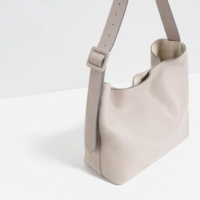 Image 3 of LEATHER BUCKET BAG WITH BUCKLE from Zara