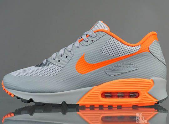 buy online 79e1e 54cb3 ... Nike Air Max 90 Hyperfuse Stealth-Total Orange-Dark Grey ...