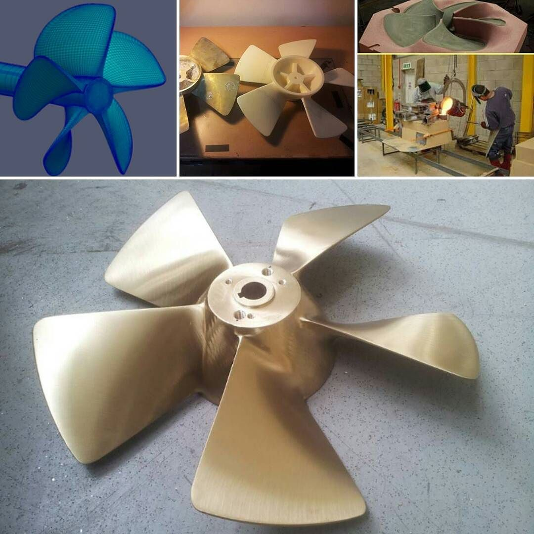 A new propeller designed and fabricated  #yacht #screw #prop