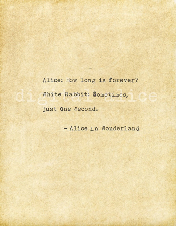 VINTAGE TYPEWRITER PRINT Alice in Wonderland quote -Instant Download -printable quote -Alice,How lon