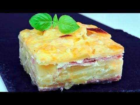 Pastel de patata con jamón y queso (pastel de papas) - YouTube