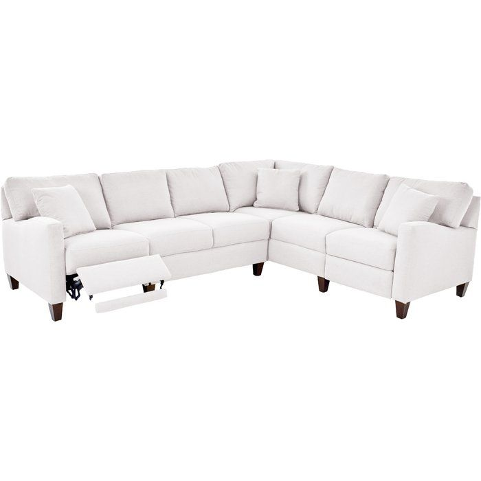 """William Hybrid 123"""" Recliner Sectional (With images) 
