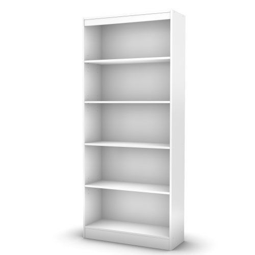Captivating South Shore White Bookshelf Storage Bookcases Axess Collection 5 Shelves  71.25in #SouthShore