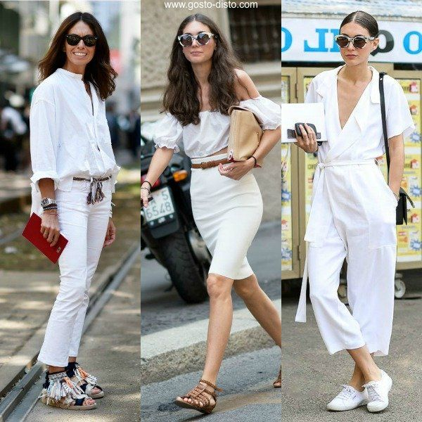 Como usar look branco total