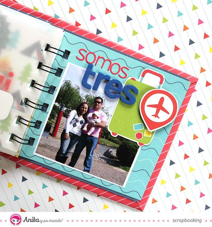 Mini lbum con encuadernaci n espiral decoraci n interior 7 scrapbooking scrapbook mini y - Decoracion de album de fotos ...