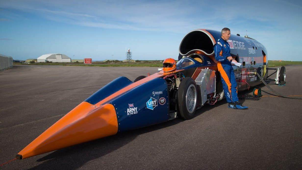 Bloodhound Supersonic Car Has Run Out Of Gas Wordlesstech Car Projects Fast Cars Car