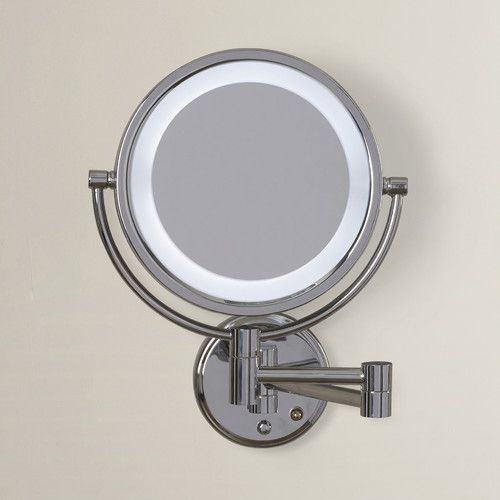 Darby Home Co Dual Sided Wall Mount Lighted Mirror Mirror With Lights Wall Mounted Light Mirror