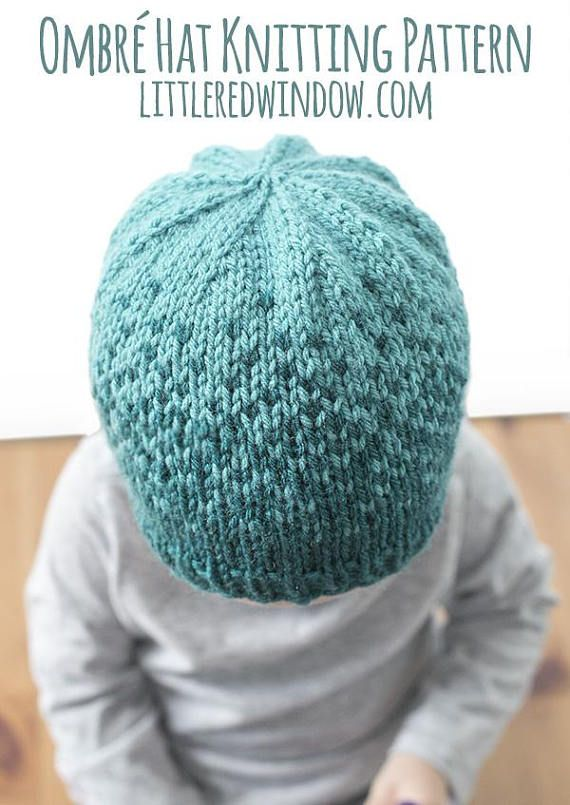 This Ombre Knit Hat Knitting Pattern Is A Fun Knit And Has Such A