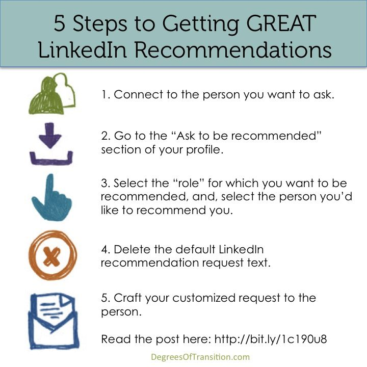 5 Steps to a GREAT #LinkedIn #recommendation #jobsearch