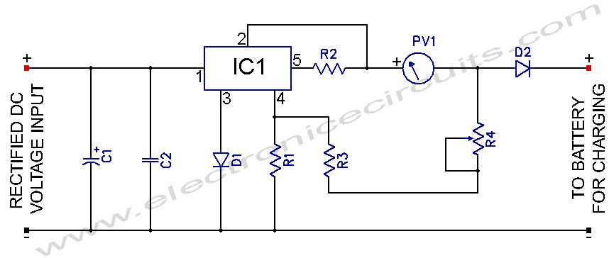 l200 12v constant voltage battery charger circuit diagram rh pinterest com