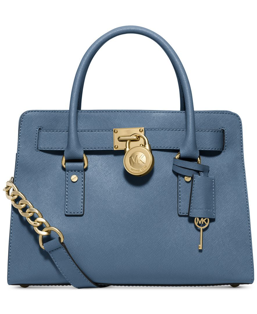 MICHAEL Michael Kors Handbag, Hamilton Saffiano Leather E/W Satchel
